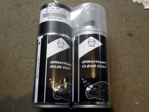 Paint spray kit, genuine Mazda, 42A, Meteor Grey mica